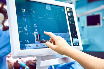 A cardiogram monitor monitoring a patient's vital signs. Photo by Getty Images.