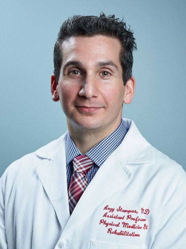 Photo of Argyrios Stampas, MD (Photo by Dwight Andrews/McGovern Medical School at UTHealth)